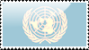 Flag of United Nations Stamp by xxstamps