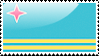 Flag of Aruba Stamp by xxstamps