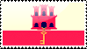 Flag of Gibraltar Stamp by xxstamps