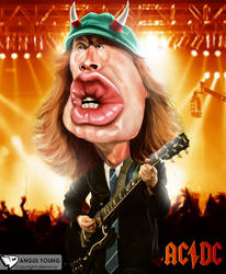 Angus Young of ACDC