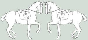 Dressage Horse Ref Lines by orengel