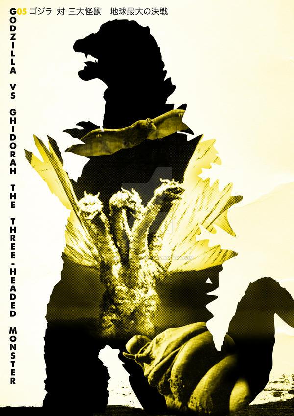 G05 Godzilla Vs Ghidorah 3-HM by Designosaurus-Rex