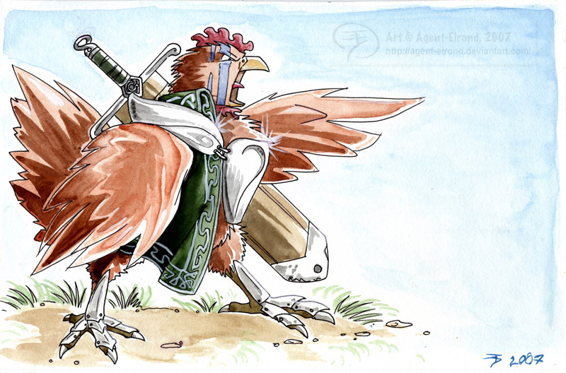 Celtic Warrior Chicken by GoldeenHerself