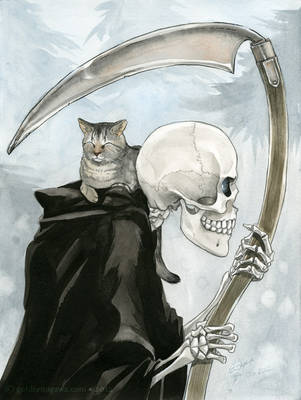Death and the Cat by GoldeenHerself
