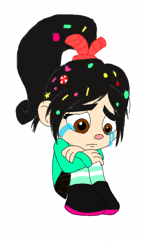 Wreck It Ralph Vanellope Crying Crying vanellope ( colored )