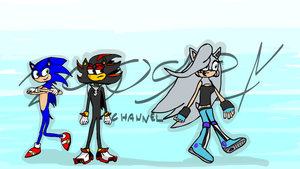 Sonic, Shadow And Venus The HedgeDog by ZcoogerChannel