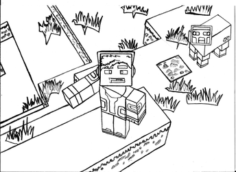 MinecraftPolska Skin Contest #1 DRAFT Scan by ZcoogerChannel