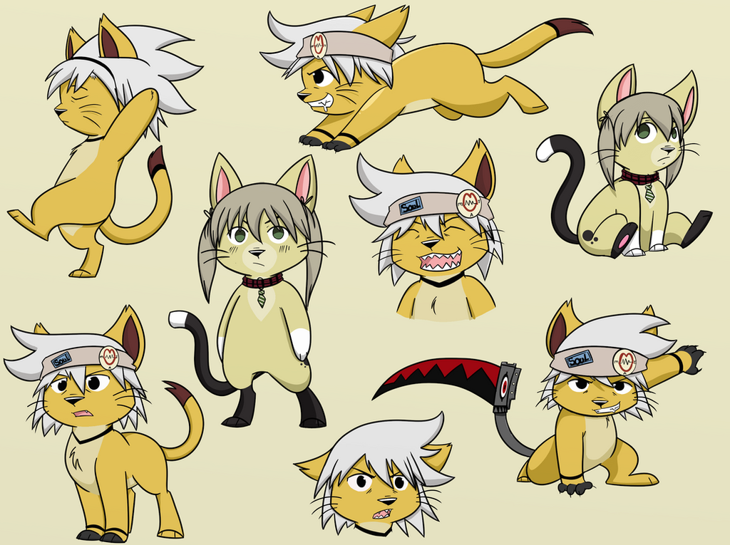 Soul Kitty plus Maka by Circus-Cinnamon