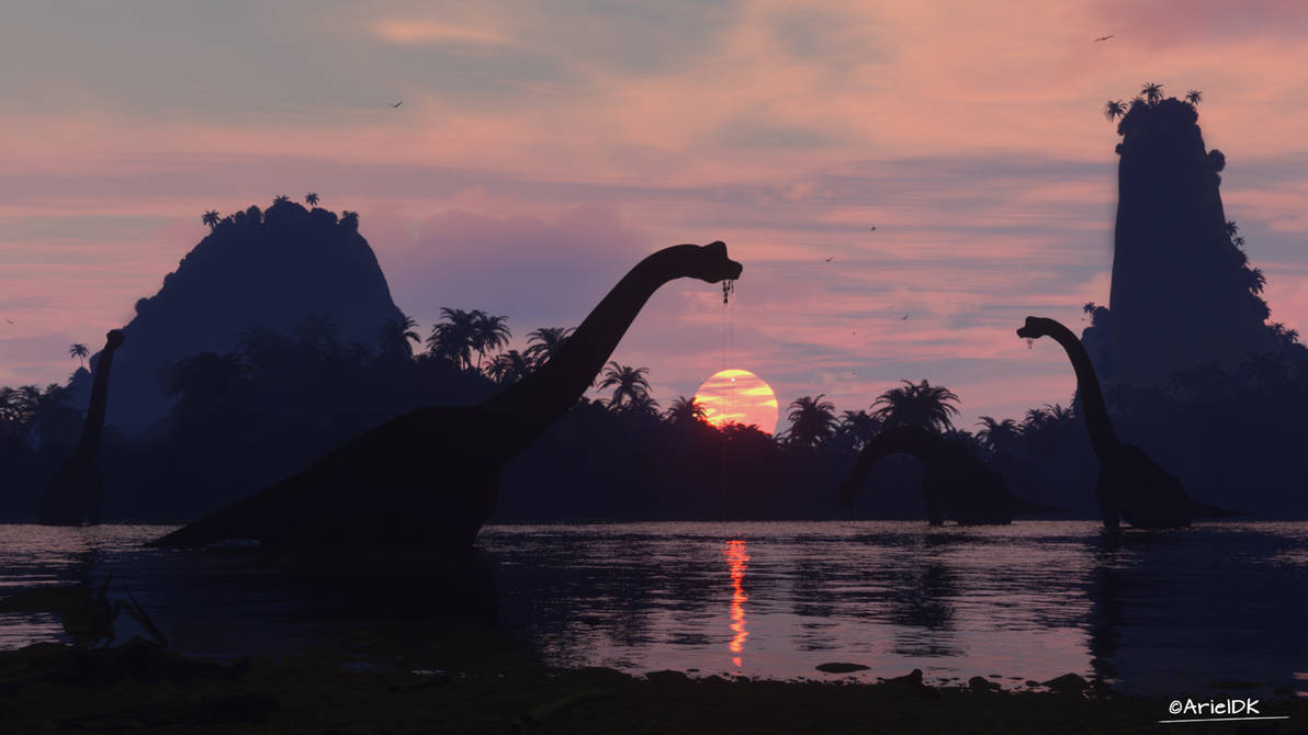 Brachoisaurus Lake by ArielMultimedia