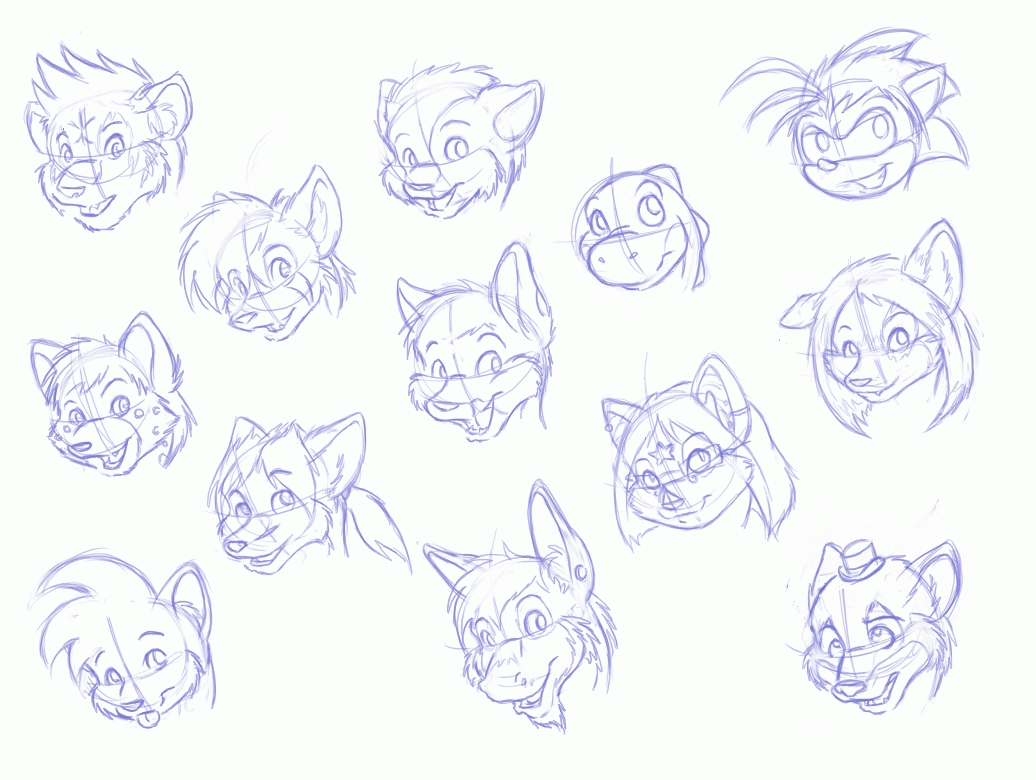 Anthro Wolf Furry Face Shape Bing Images Card From User Li Ya