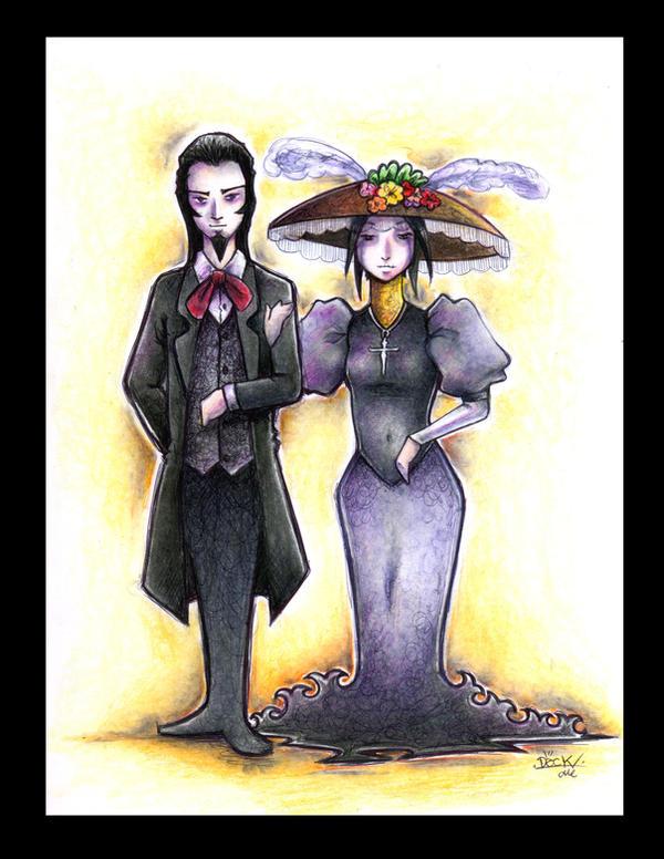 la catrina y el catrin a color by yuels