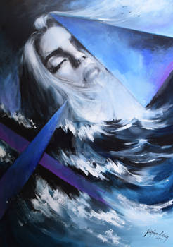 SEA ME by Jozefina Litwin acrylic on canvas