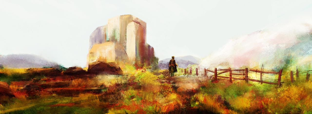Landscape sketch by CalvinIP