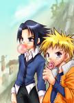 Naruto and Sasuke - Candy