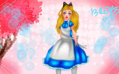 Alice in wonderland by brendamiller1234