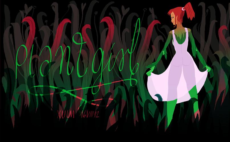 Plant monstergirl by xulm