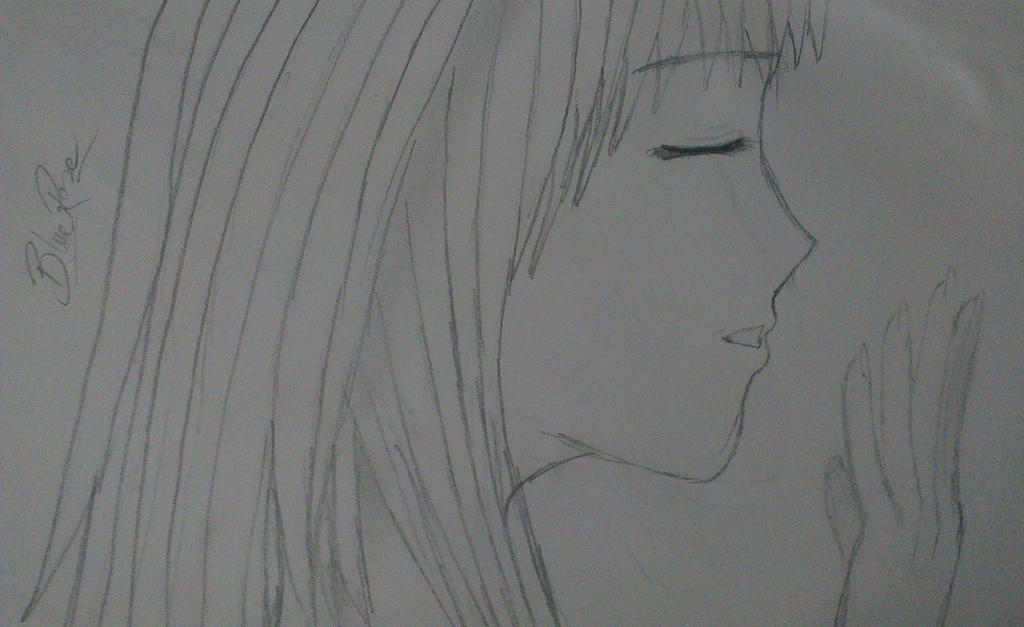 Anime Girl Singing From My Old Sketch Book 2/12 By BlueRose164 On DeviantArt