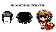 Mixed Hair 9 By SweetTsunderexD by SweetTsunderexD