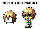 Mixed Hair 12 By SweetTsunderexD by SweetTsunderexD