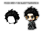 Mixed Hair 17 By SweetTsunderexD by SweetTsunderexD