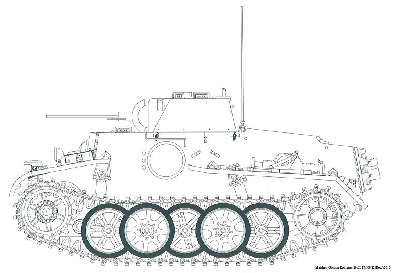 Pz.Kpfw. I Ausf. F mit 7,92x94 mm Mauser E.W. 141 by withinamnesia