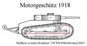 Gunther Burstyn Motorgeschutz 1918