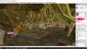 Duskwood Dungeon Entrance Mushroom Tunnel Corridor