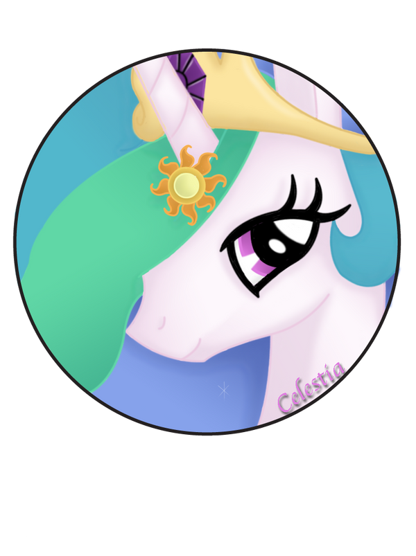 Princess Celestia Pin by BrittanysDesigns