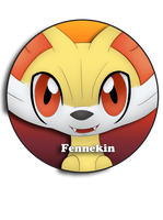 Fennekin Pin by BrittanysDesigns