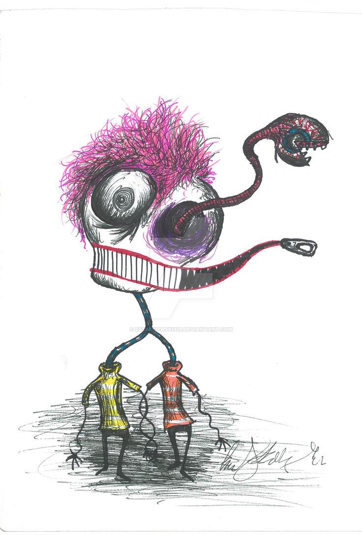 Zipper Mouth Man by eszalkowski229
