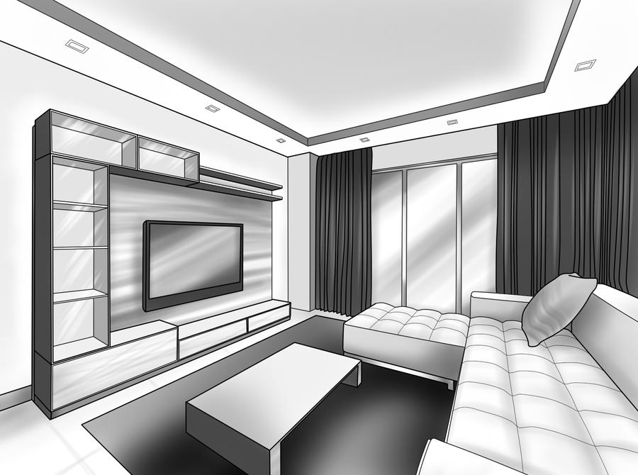 My 2d Interior Drawing By Yuriko Kawasaki On Deviantart