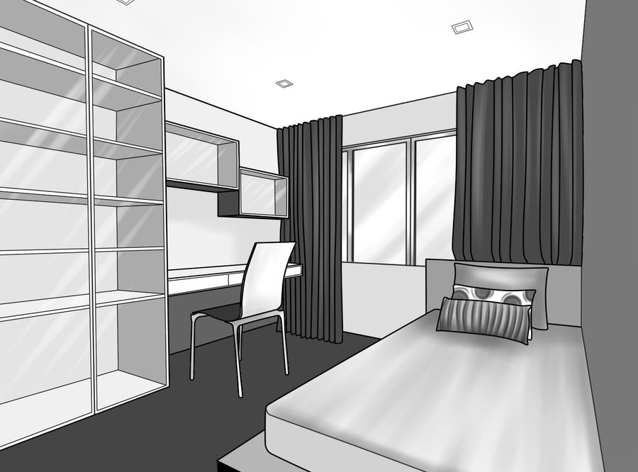 my 2d interior drawing by yuriko kawasaki on deviantart