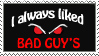 Bad Guy's stamp by Saffella