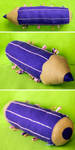 Violet Crayon by Saffella