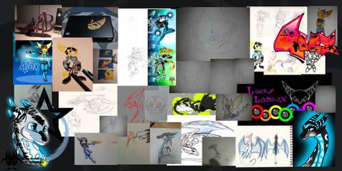 MY OLD ARTWORK DUMP!!! by LuckyLombaX