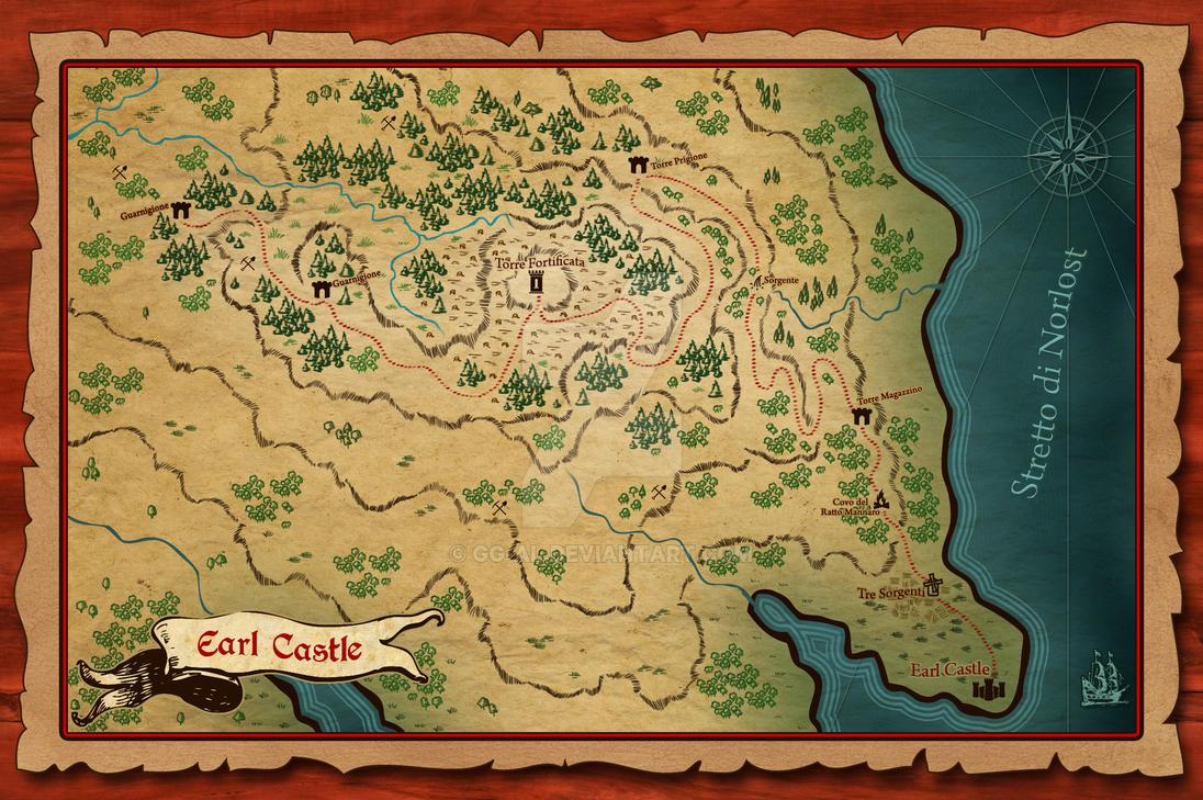 Earl Shire - Fantasy Map by gg-al
