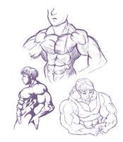 Muscle Girls Randomness by otakutaylor