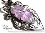 Dark flower pendant