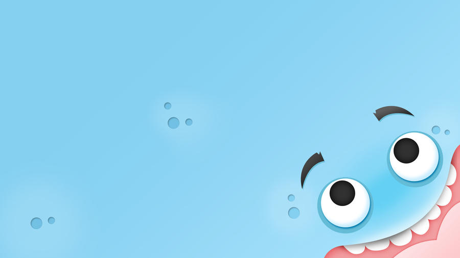 Wallpaper Cool Blue Monster By G Lulu