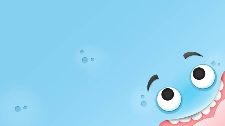 Wallpaper Cool Blue Monster by G-Lulu