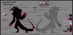 WOP: Jacqueline Character sheet (Wulver Half) by LittleDevil-888