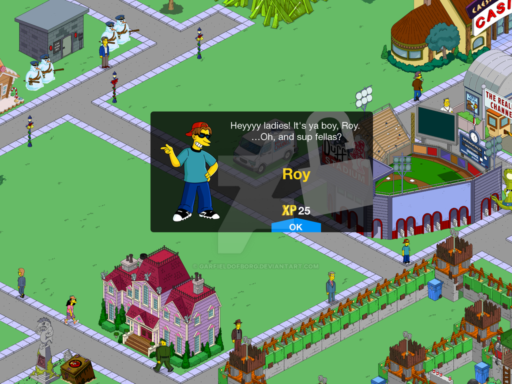 Unlock Screen for Roy in The Simpsons Tapped Out by GarfieldofBorg
