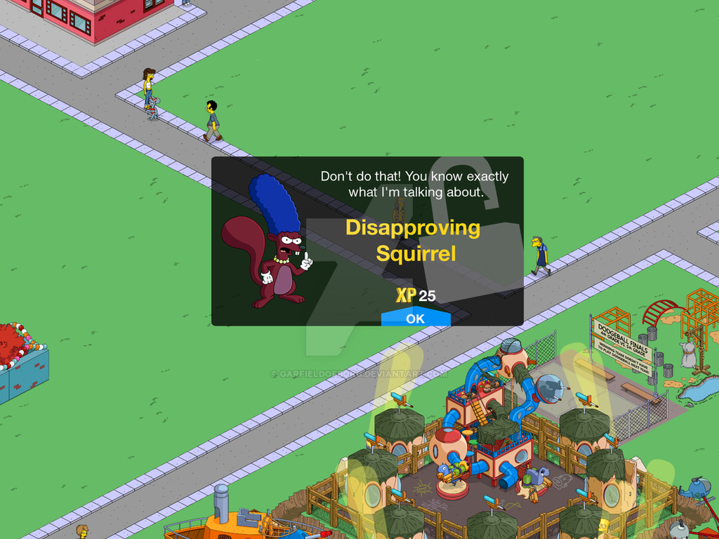 Unlock Screen for Disapproving Squirrel in TSTO by GarfieldofBorg