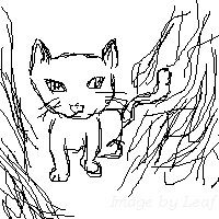 FAIL Cat Drawing by leafeh22