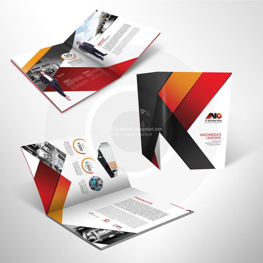Company profile design by advant7 on deviantart for The design company