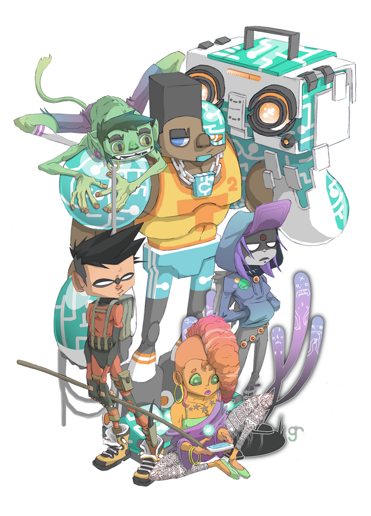 teen titans by raps0n