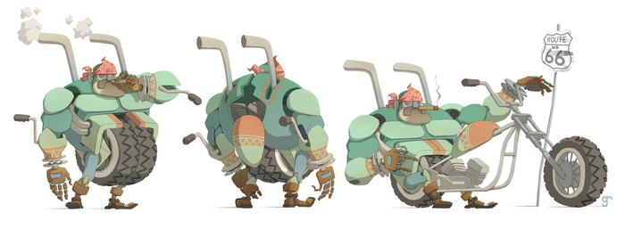 big boy biker bot