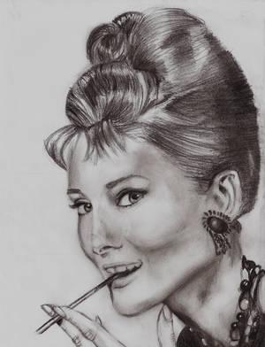 Audrey Hepburn by AmbersArts