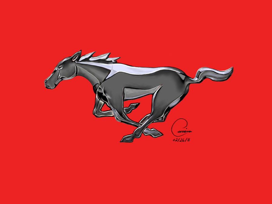 mustang logo by artwarrior25 on deviantart