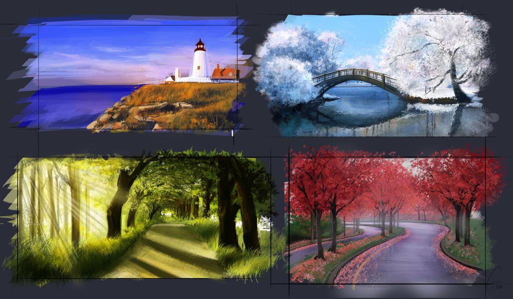 Landscape Skethes by ArtWarrior25